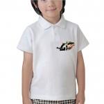 P8YCT01 Yakalı Çocuk T-Shirt Kısa Kol