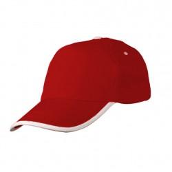 P8305 Beyaz Biyeli Şapka